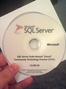 "SQL Server Codename ""Denali"" Community Technology Preview 1"